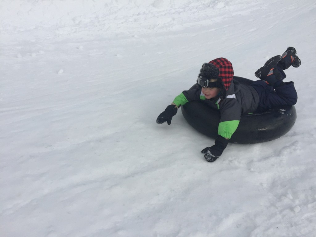 Snow tubing at Mount Baldy
