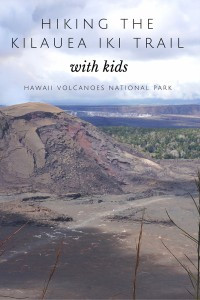Hiking the Kilauea Iki Trail in Hawaii Volcanoes National Park with kids is one of the most unique experiences you can have on the Big Island