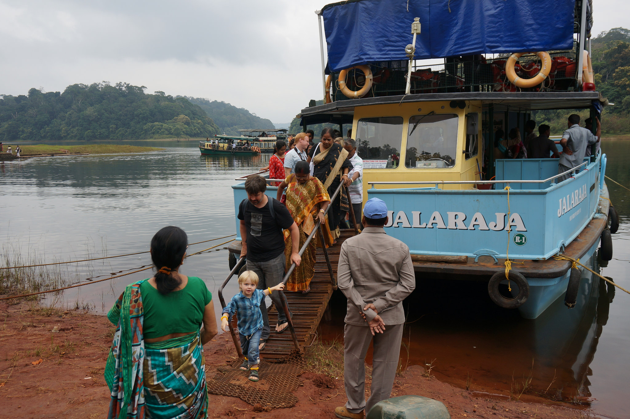 Boat ride at Periyar - Places to Visit in Kerala with Kids