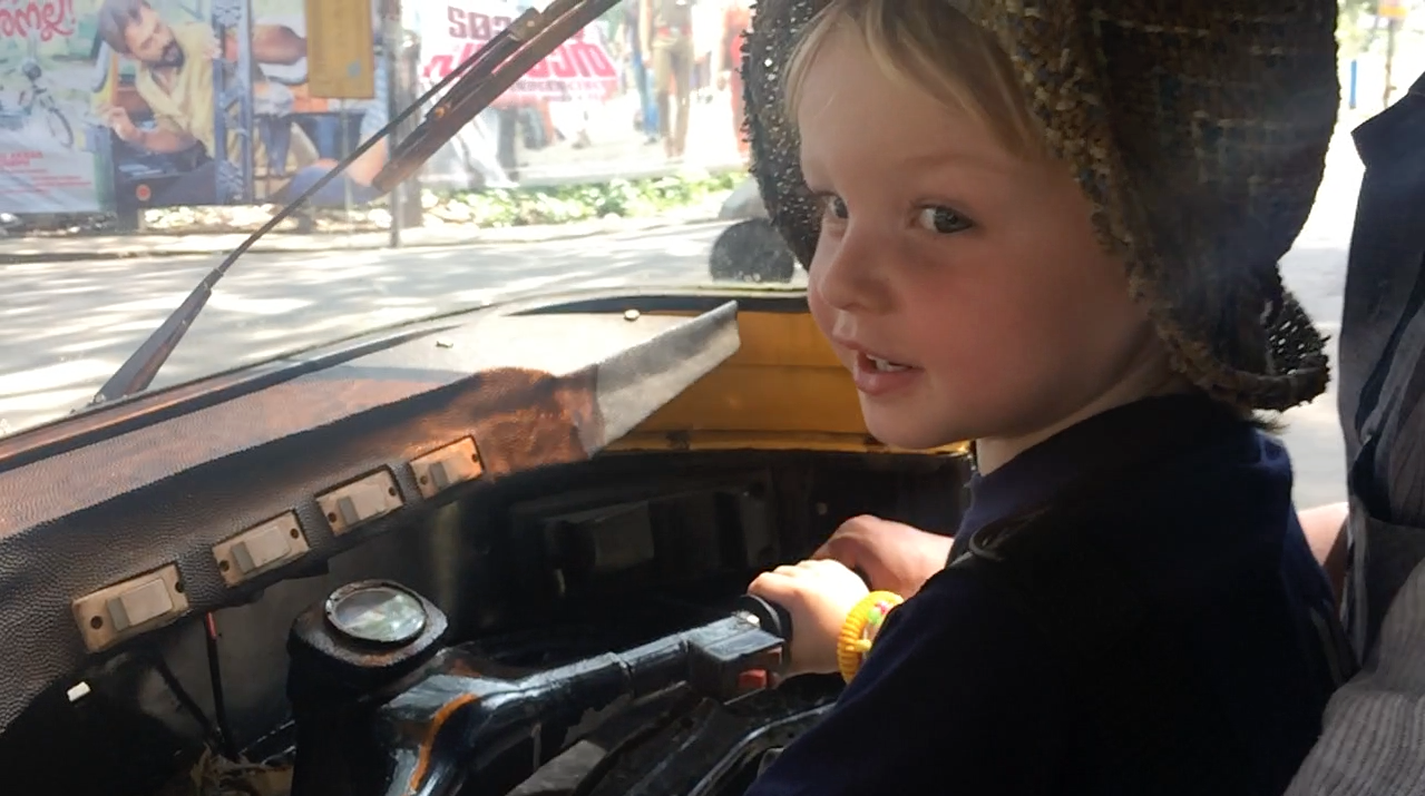 Driving a Rickshaw in Kerala - Places to Visit in Kerala with Kids