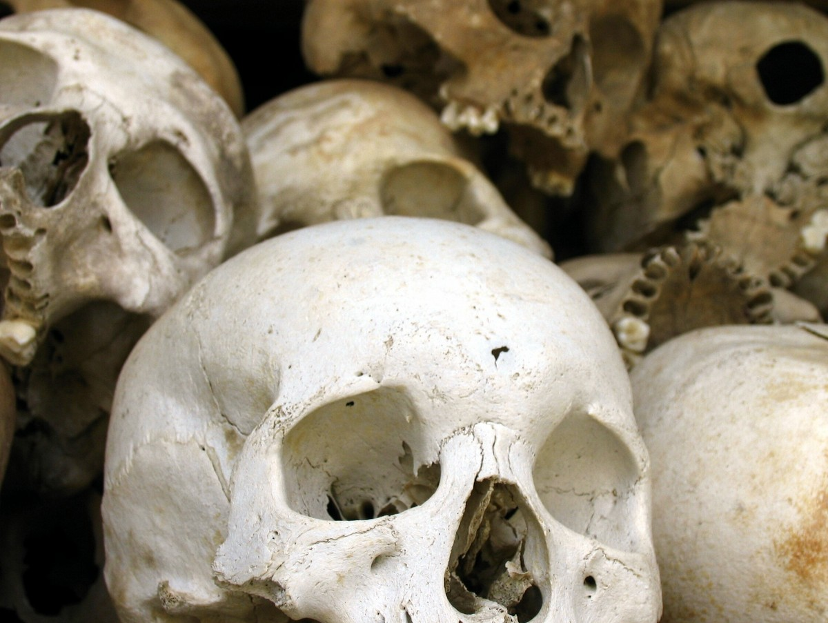 Cambodia in Photos: Actual skulls found at the Killing fields