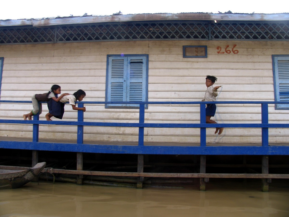 Places to visit in Cambodia in Photos: Tonle Sap, floating village