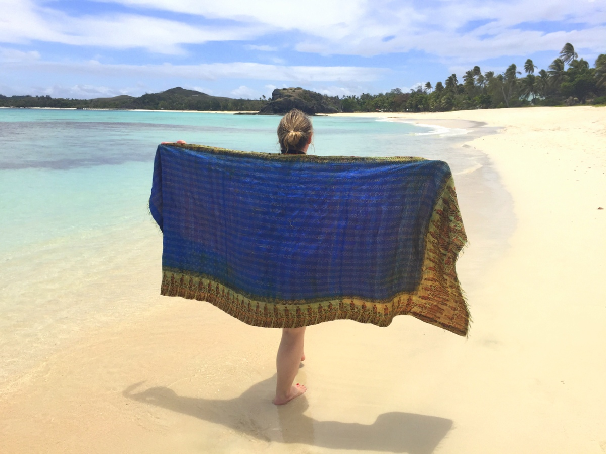 Kantha Travel Shawl: A must have travel accessory