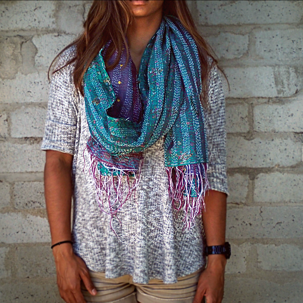 kantha travel wrap - a must have travel accessory