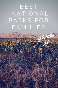 Best (off the beaten path) National Parks for Families - as recommended by top family travel bloggers.