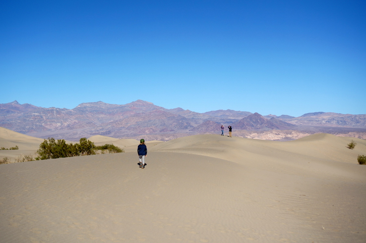 Mesquite Flat Sand Dunes - What to do in Death Valley with Kids