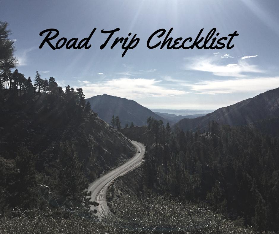 Road Trip Checklist - Checklists for Travel