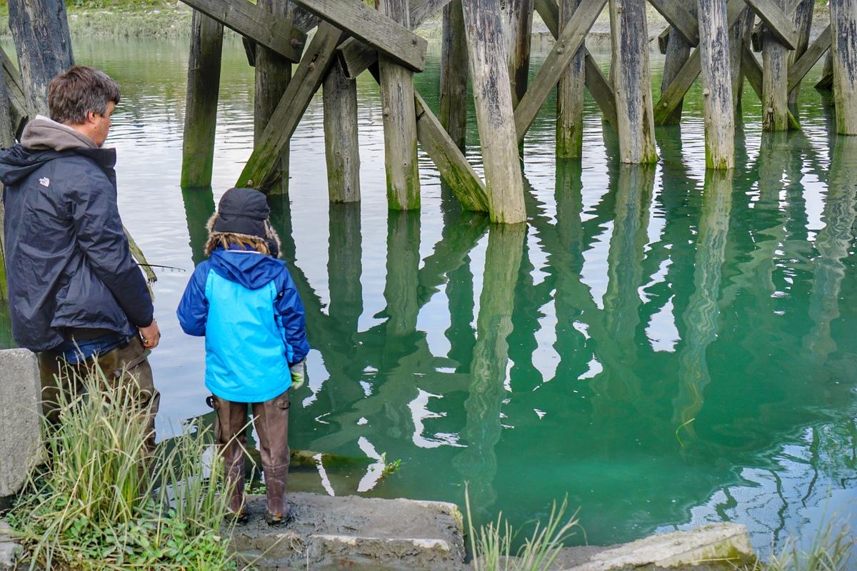 Alaska Road Trip itinerary - fishing at ship creek