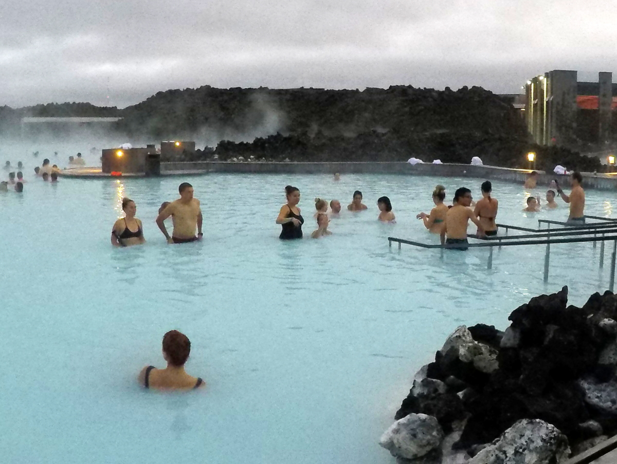 Bathing in Hot springs is a must do in Iceland with Kids
