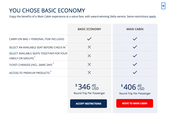 The Truth Behind the delta basic economy fare