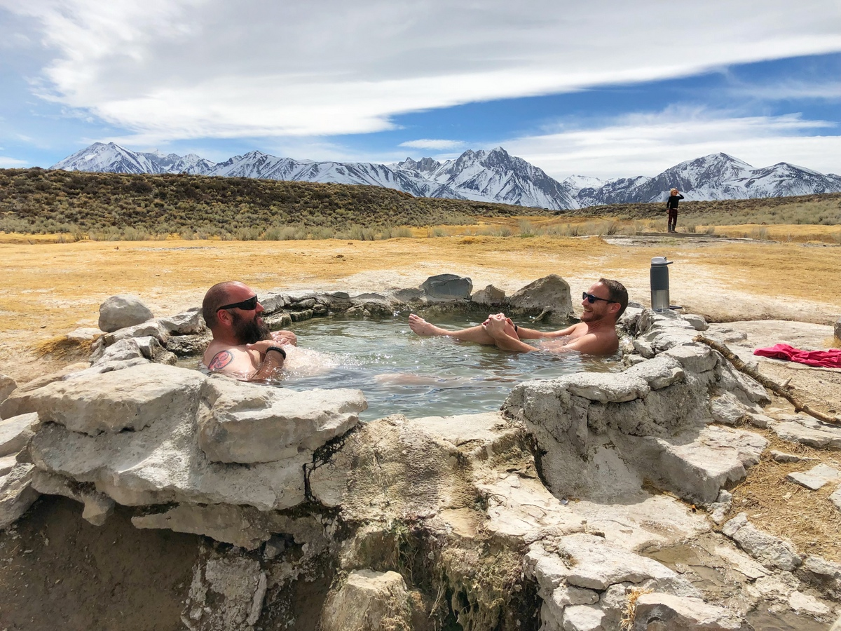 Crab Cooker Hot Springs near Mammoth