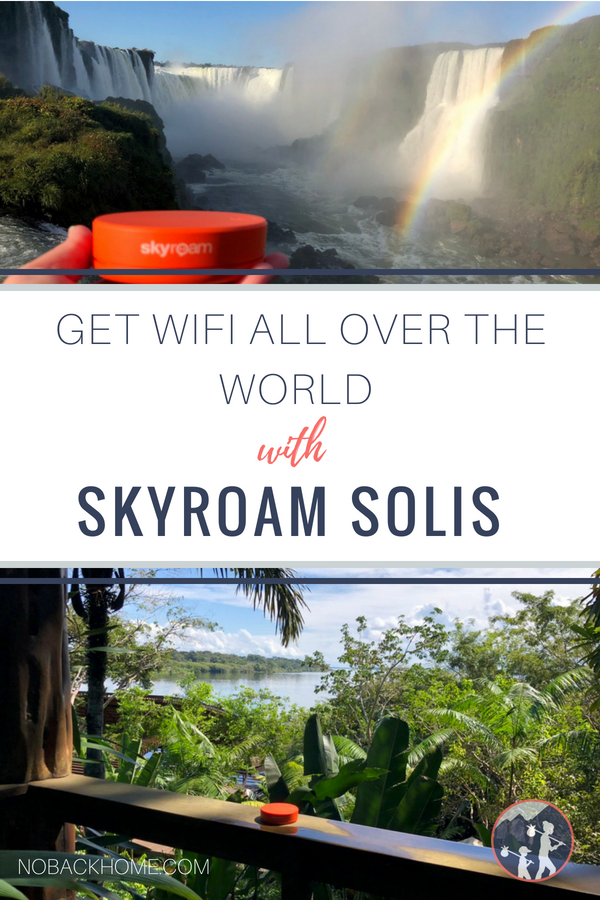 Portable WiFi hotspot for use all over the world with the Skyroam Solis