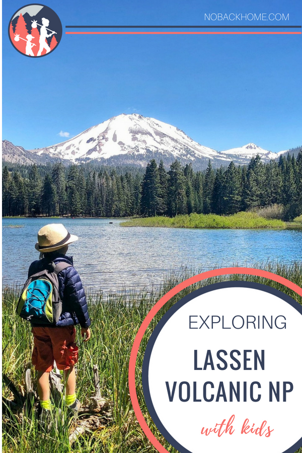 Exploring Lassen Volcanic National Park with kids is one of the best places to go in the summer for snow play, learning about volcanos and exploring nature.