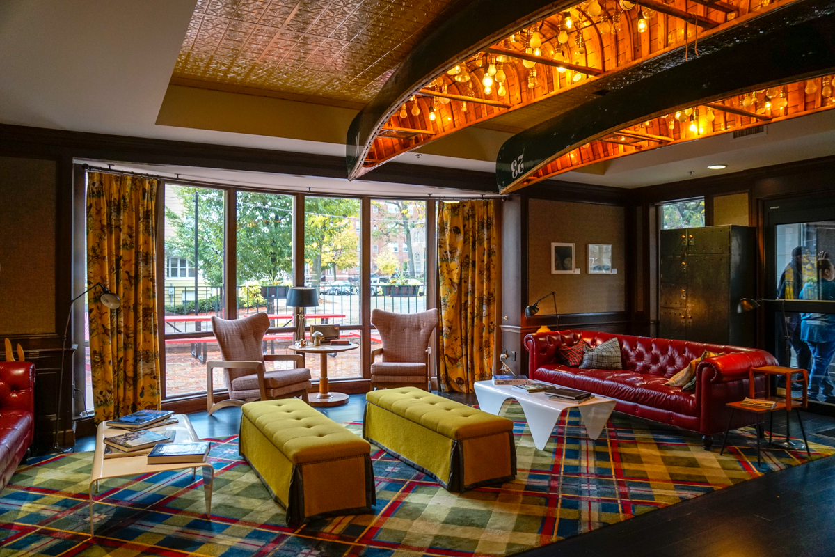 Gorgeous interiors at The Graduate Hotel Madison