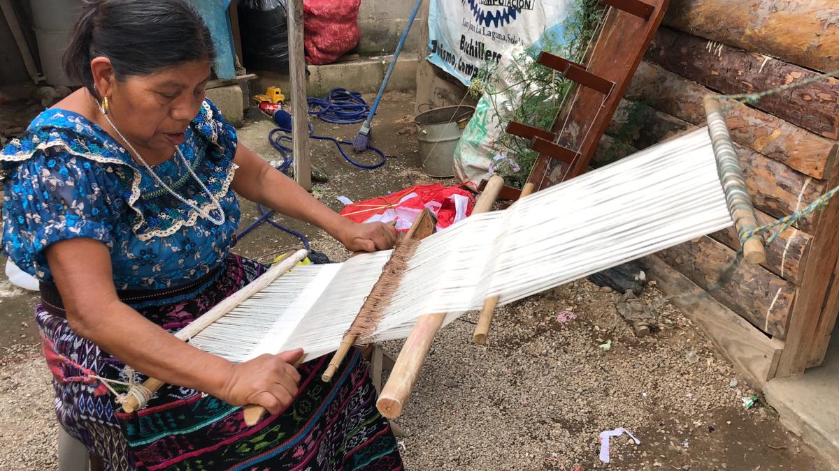 Backstrap weaving in Guatemala