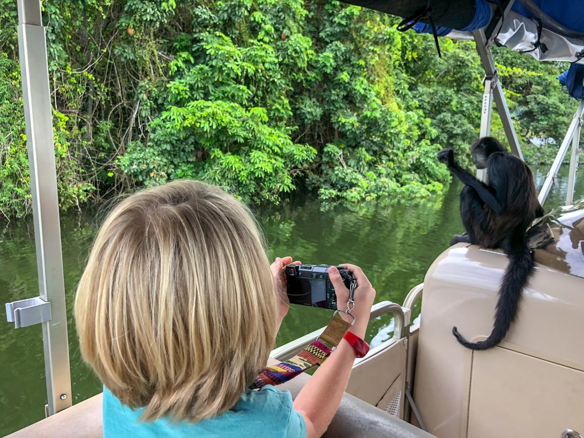 Monkey Island near Flores Guatemala