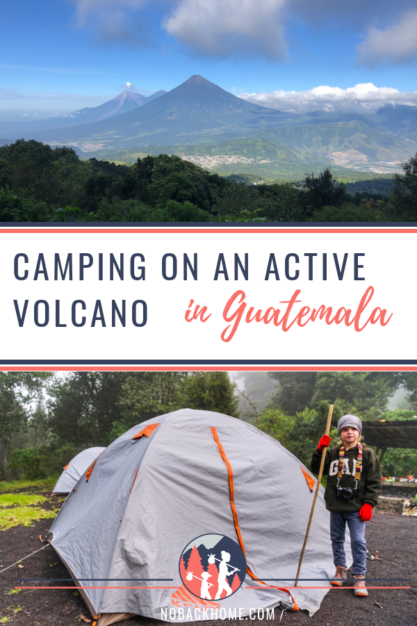 Camping on an Active volcano in Guatemala