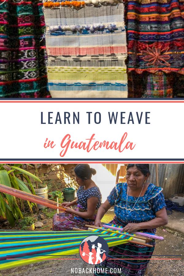 Learn weaving in Guatemala at TinteMaya