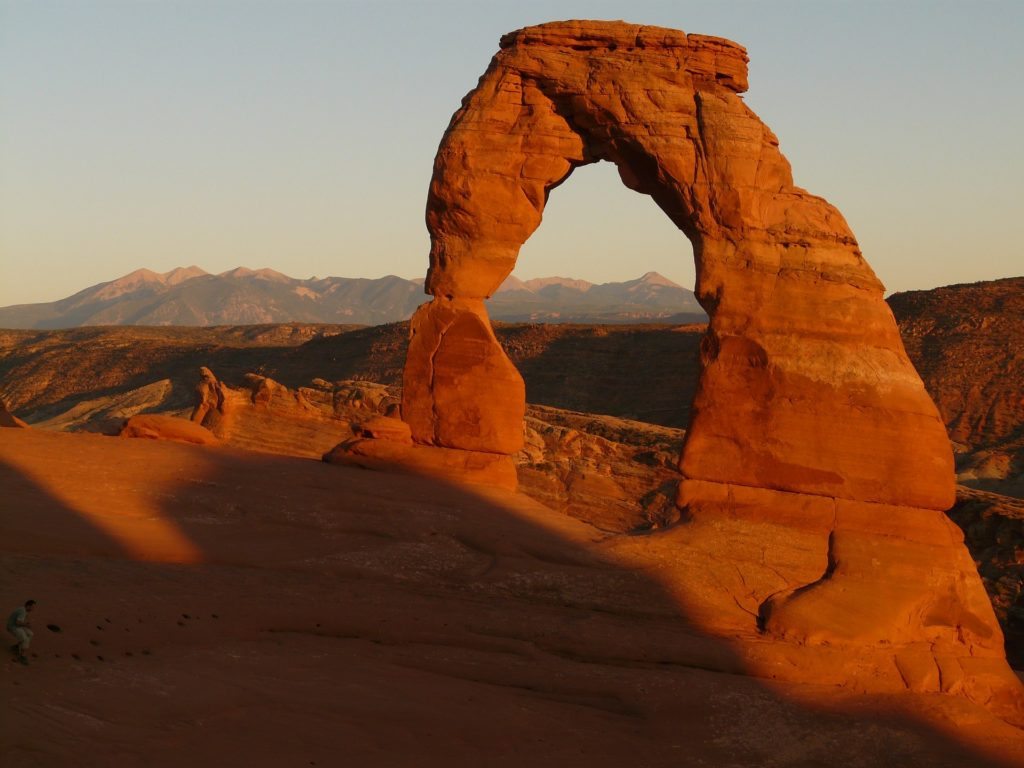 Arches national park in Utah is one of the best examples of sandstone parks on our West Coast National Park Road Trip