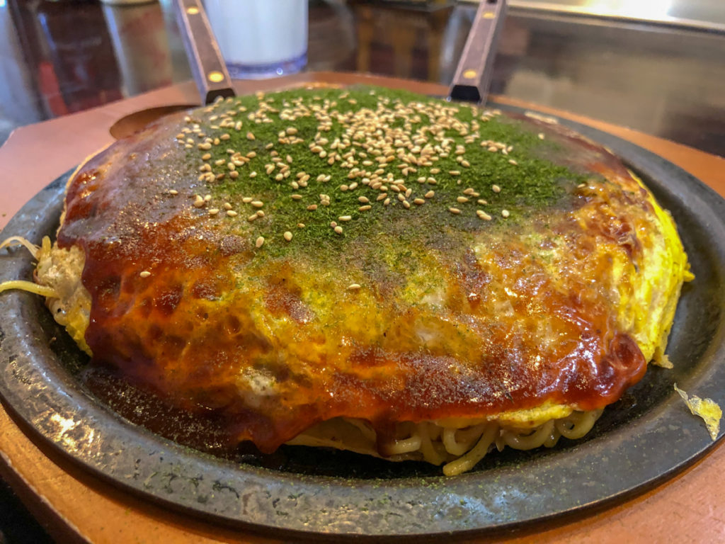 The best Japanese food in Torrance is okonomiyaki!