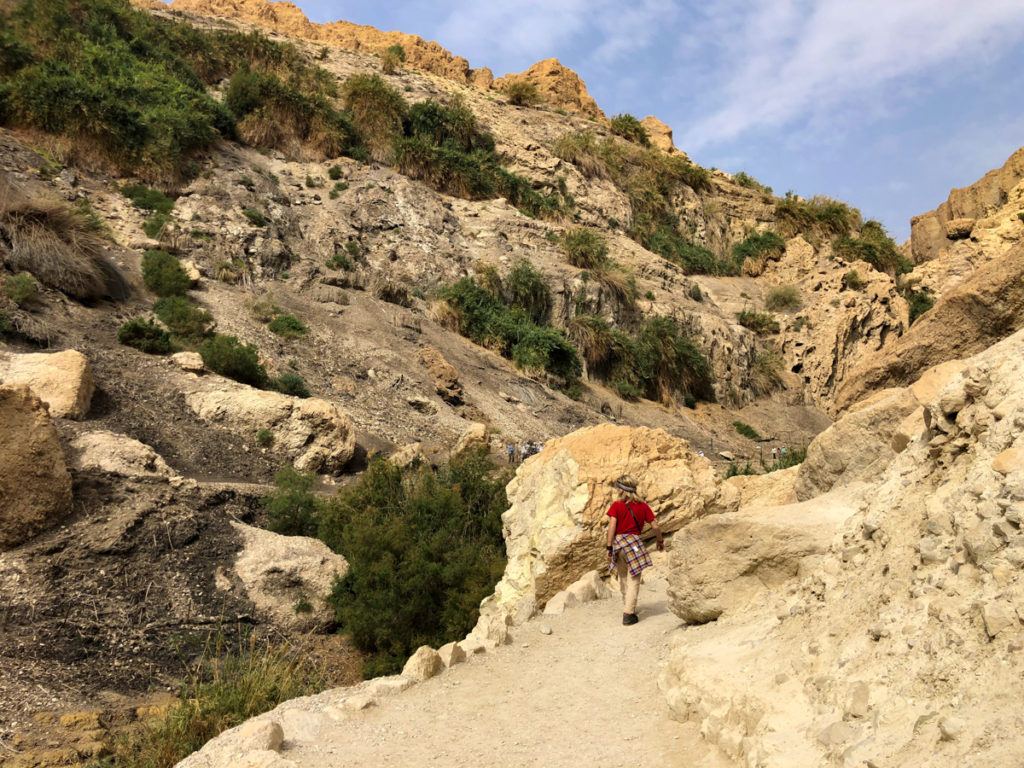 hiking the Ein Gedi