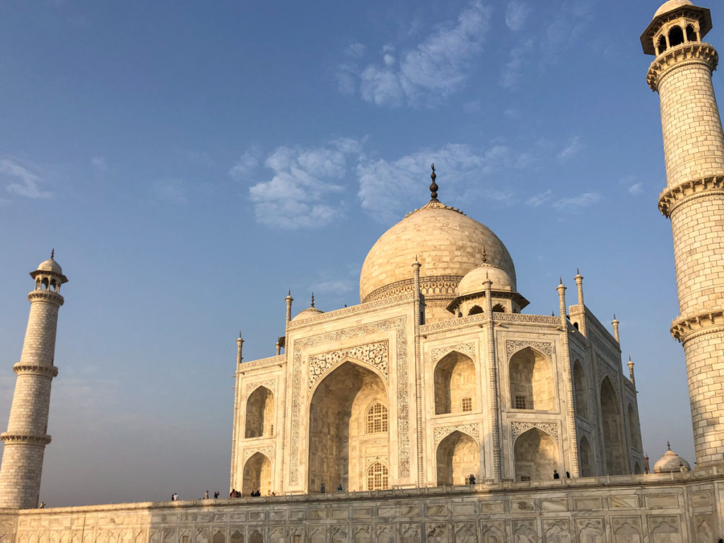 Different angles of the Taj Mahal in India