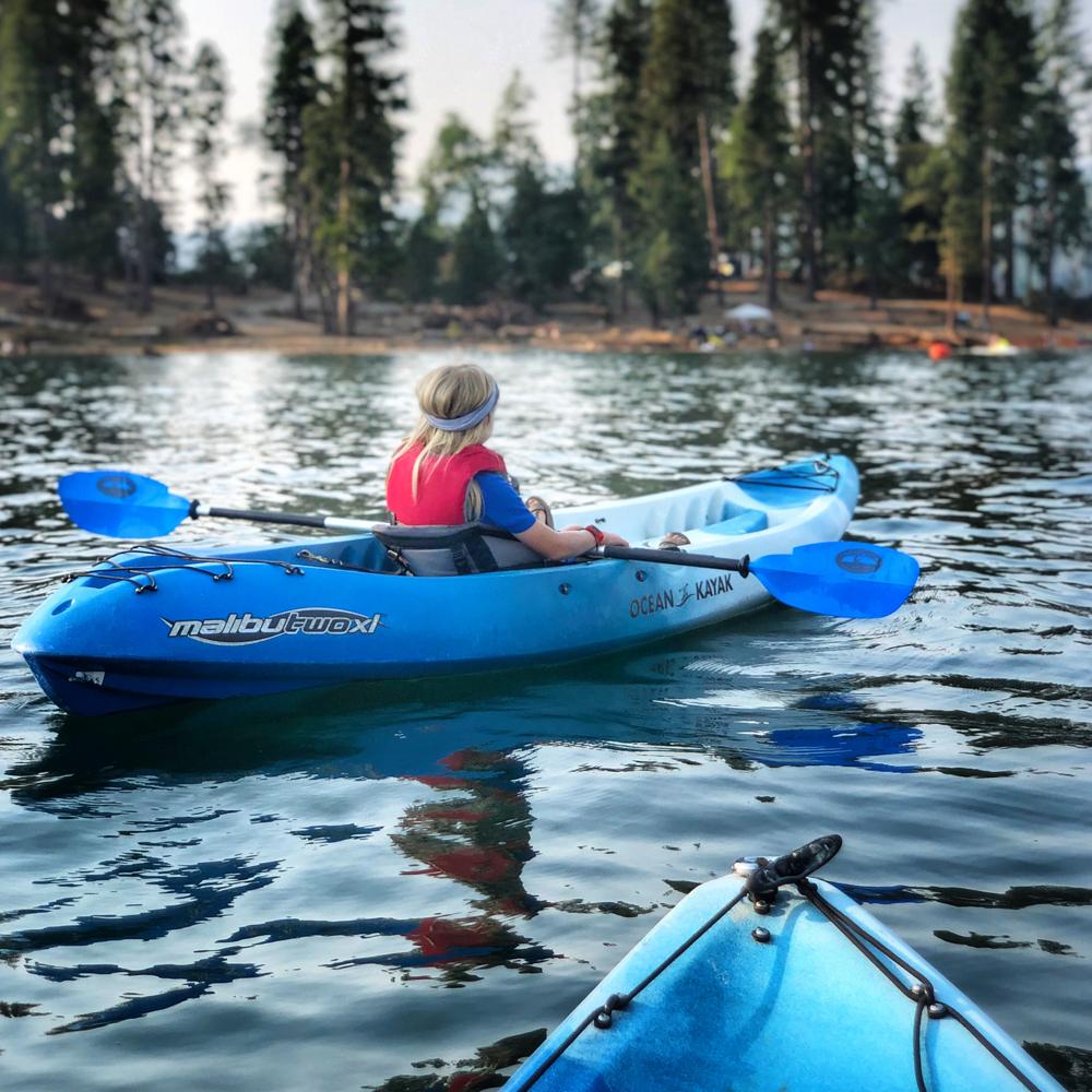 Kayaking in Bass Lake California