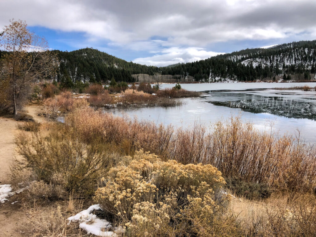 hiking or snowshoeing is a great thing to do in tahoe