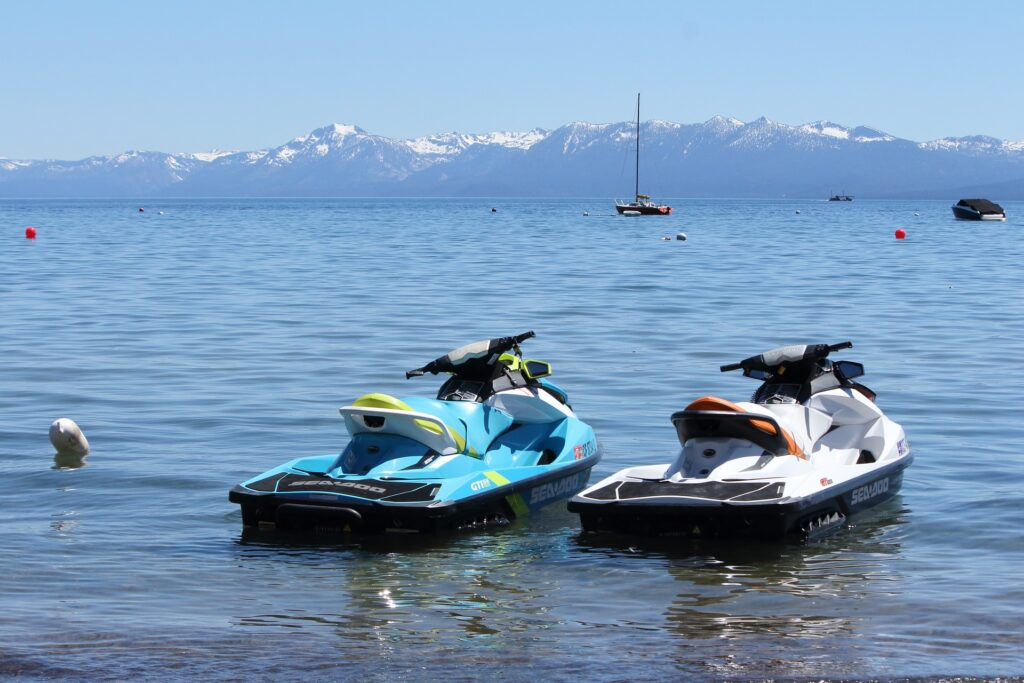 Jet skiing is a great thing to do in Tahoe in Summer