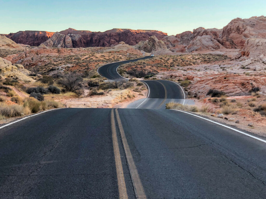 Pretty road in Valley of Fire State park