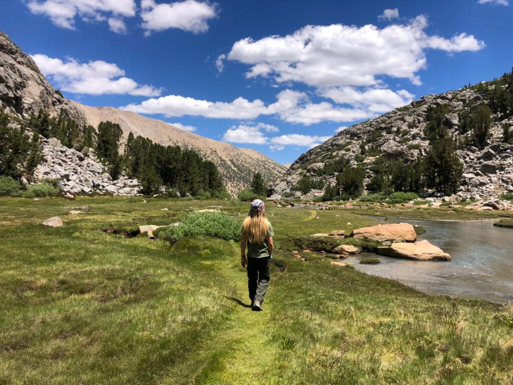 Sam Mack Meadow on the Big Pine Lakes trail