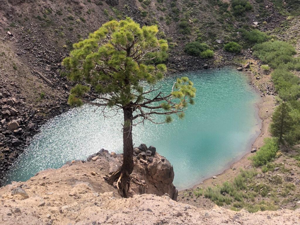 Inyo Crater lake at mammoth Lakes Ca