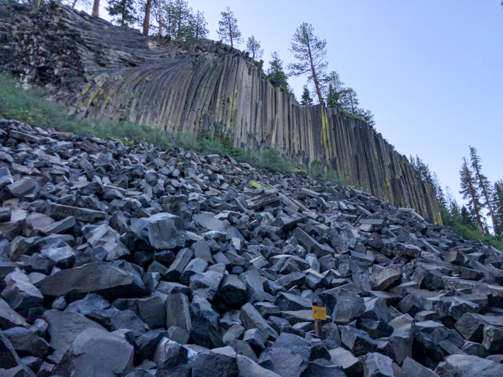 Devil's postpile national monument is a must do Mammoth Lakes Hike